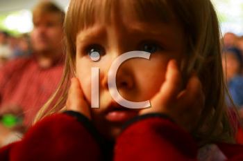 Royalty Free Photo of an  Upset Little Girl