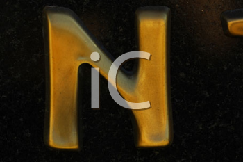 Royalty Free Photo of the Letter N