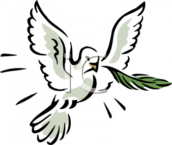 Royalty Free Clipart Image of a Dove