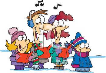 Royalty Free Clipart Image of Carollers