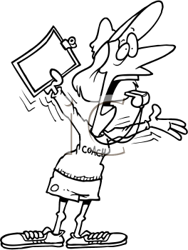 Royalty Free Clipart Image of a Female Coach