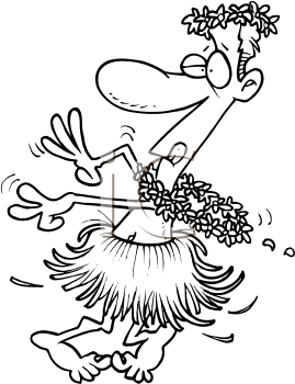 Royalty Free Clipart Image of a Hula Dancer