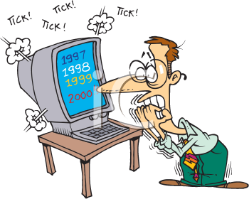 Royalty Free Clipart Image of a Countdown to 2000
