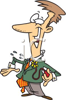 Royalty Free Clipart Image of a Prankster