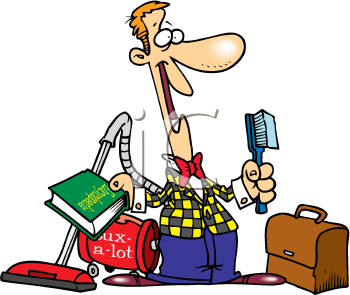 Royalty Free Clipart Image of a Salesman