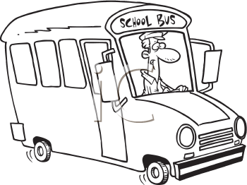 Royalty Free Clipart Image of a School Bus Driver
