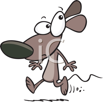Royalty Free Clipart Image of a Mouse