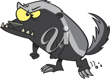 Royalty Free Clipart Image of a Badger