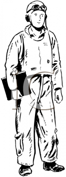 Royalty Free Clipart Image of an Airman