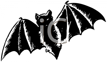 Royalty Free Clipart Image of a Bat