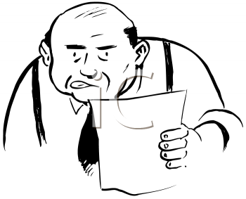 Royalty Free Clipart Image of a Boss With a Memo