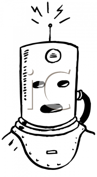 Royalty Free Clipart Image of a Radio Transmitter Helmet