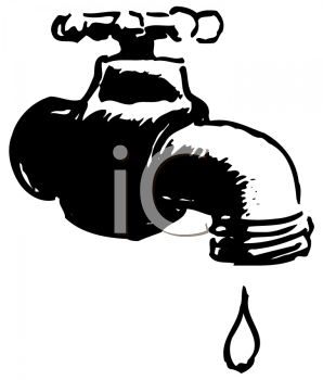 Royalty Free Clipart Image of a Faucet