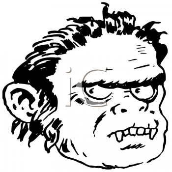 Royalty Free Clipart Image of a Werewolf