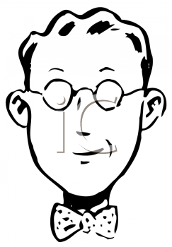 Royalty Free Clipart Image of a Man With Spectacles