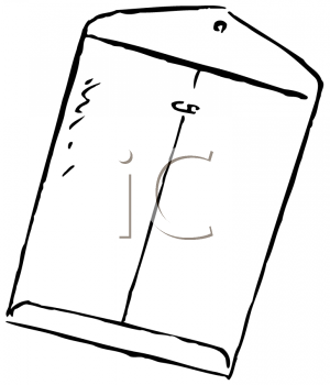Royalty Free Clipart Image of a Manila Envelope