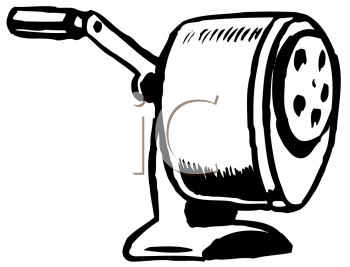 Royalty Free Clipart Image of a Pencil Sharpener