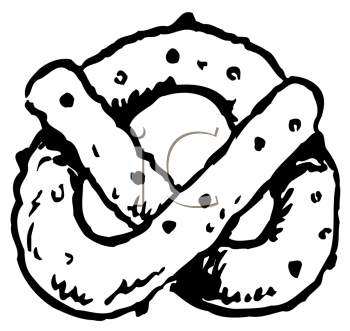 Royalty Free Clipart Image of a Pretzel