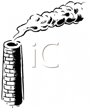 Royalty Free Clipart Image of a Smokestack