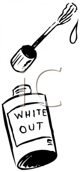 Royalty Free Clipart Image of Whiteout