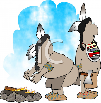 Royalty Free Clipart Image of Natives