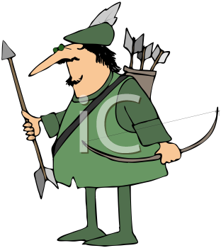 Royalty Free Clipart Image of Robin Hood