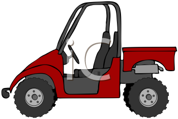 Royalty Free Clipart Image of a UTV