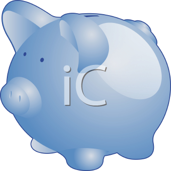 Royalty Free Clipart Image of a Piggybank