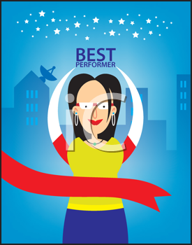 Royalty Free Clipart Image of a Top Performer