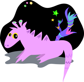Royalty Free Clipart Image of an Alient Dragon