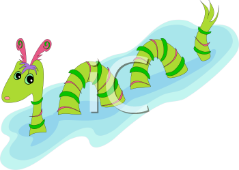 Royalty Free Clipart Image of a Sea Monster