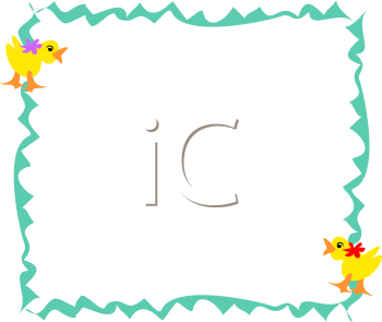 Royalty Free Clipart Image of a Duck Frame