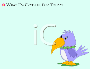 Royalty Free Clipart Image of a Note of Gratitude