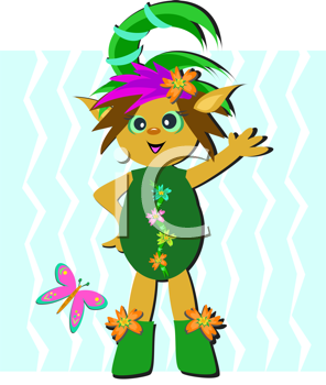 Royalty Free Clipart Image of a Fairy Child