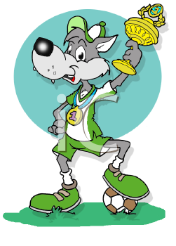 Royalty Free Clipart Image of an Athletic Wolf