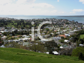 Royalty Free Photo of Seaside Town