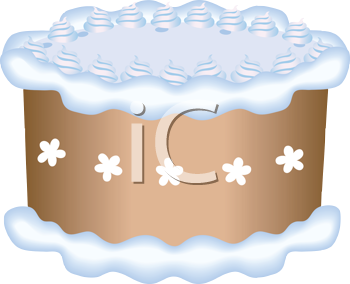 Royalty Free Clipart Image of  a Decorated Cake