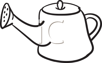 Royalty Free Clipart Image of a Watering Can