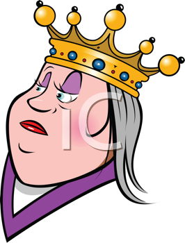 Royalty Free Clipart Image of a Queen