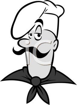 Royalty Free Clipart Image of a Chef
