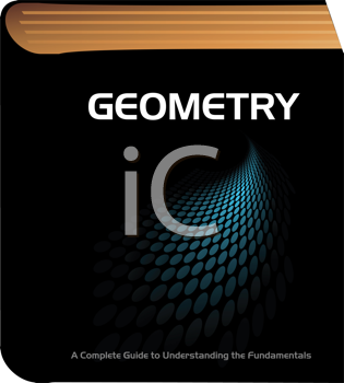 Royalty Free Clipart Image of a Geometry Book
