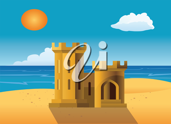 Royalty Free Clipart Image of a Sandcastle