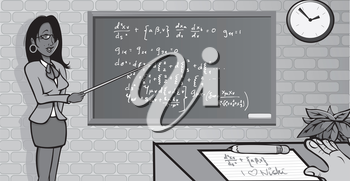 Royalty Free Clipart Image of a Teacher