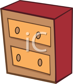 Royalty Free Clipart Image of a Chest of Drawers