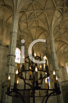 Royalty Free Photo of the Interior of Mosteiro dos Jeronimos in Lisbon, Portugal