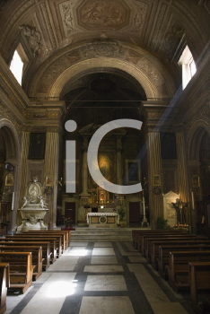 Royalty Free Photo of a Church Interior in Rome, Italy