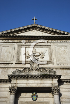 Royalty Free Photo of a Building Facade in Rome, Italy