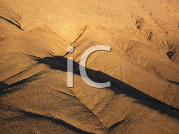 Royalty Free Photo of an Aerial View of the Desert