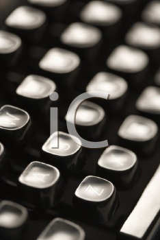 Royalty Free Photo of a Close-up of Type Levers on a Typewriter Keyboard