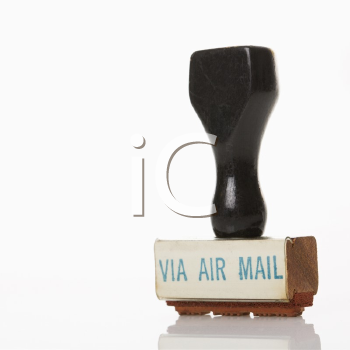Royalty Free Photo of a Rubber Stamp for Air Mail